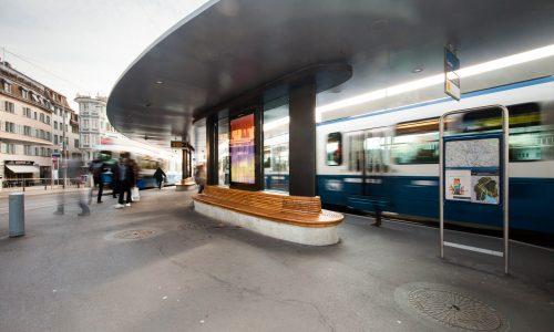 Tramwartedächer Central, Zürich