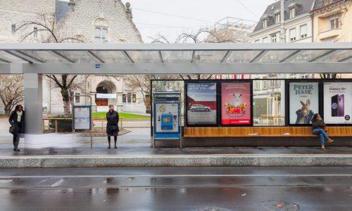 Tramwartedächer Stauffacher, Zürich