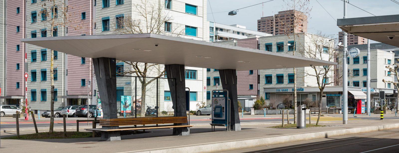 Tramwartedächer Letzigrund, Zürich
